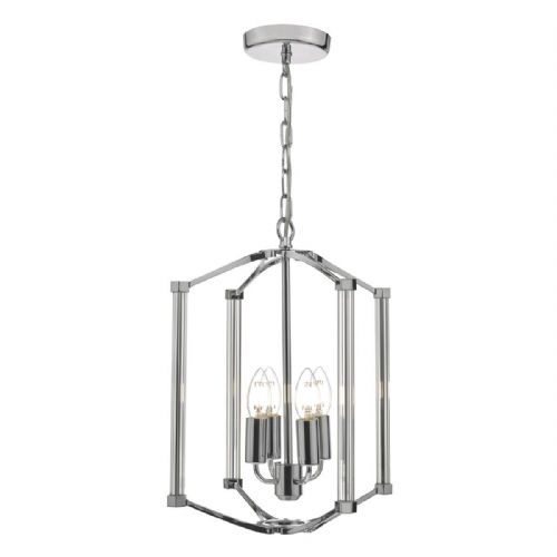 Nuri 4lt Pendant Polished Nickel & Glass (double insulated) BXNUR0438-17
